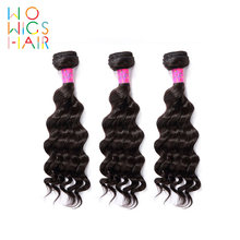 WoWigs Hair Malaysian Deep Wave 100% Human Hair Weave Bundles Deal 3Pcs Remy Hair Extension Wavy Deep Curl(China)