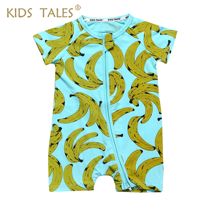 2017 Summer New Arrival Baby Boy Clothes Banana Printed Newborn Rompers Baby Short Sleeve Overalls Todder Clothes for Babies