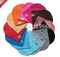 Envío gratis 2016 Nuevo 22 colores MOQ = 1 UNIDS bebé Primavera sombrero gorra de Color Sólido para niños Bebé Niñas niños gorros