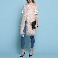 ורוד בז 'casaco feminino כותנה נשים vest מעילי פרווה מזויף נשים מעיל חורף פאטאל manteau abrigos mujer jas פונצ' ו קייפ אפוד
