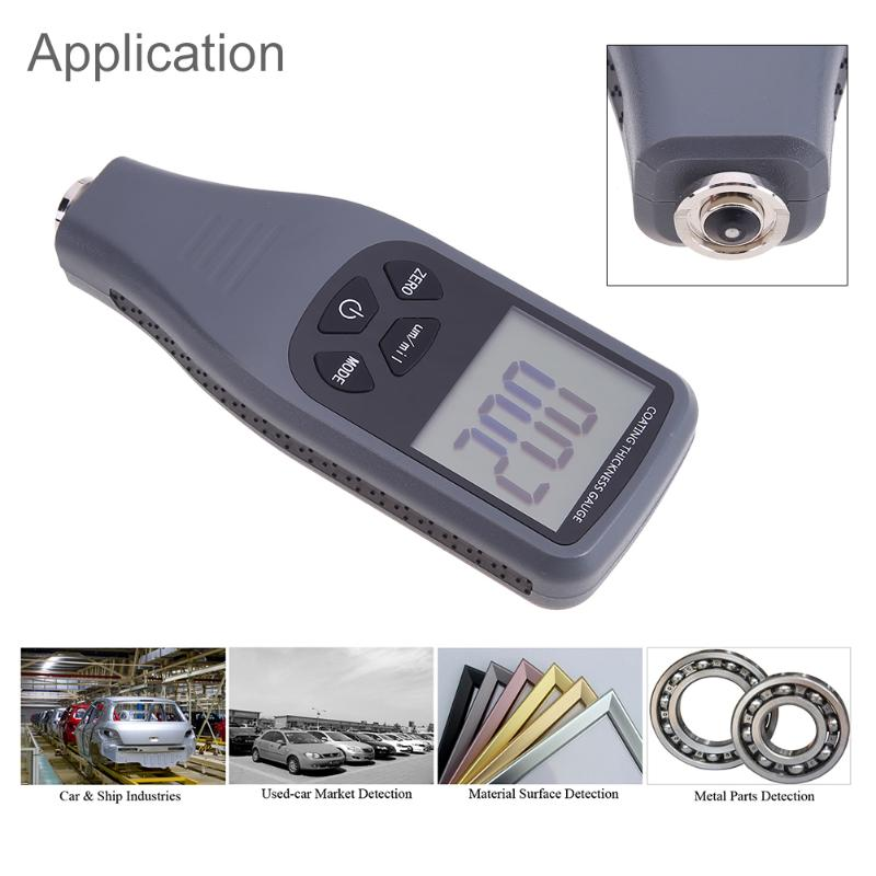 Handheld LCD Digital Display Paint Coating Thickness Gauge Metal Detector Tester Measuring Instruments Tool with Backlight genuine air flow meter 0281006043 for ssangyong 6710940048 a6710940048