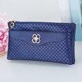 Multifunctional Plaid  Women Wallet Long Wallets Double Zipper Money Purse Storage Wallets Clutch