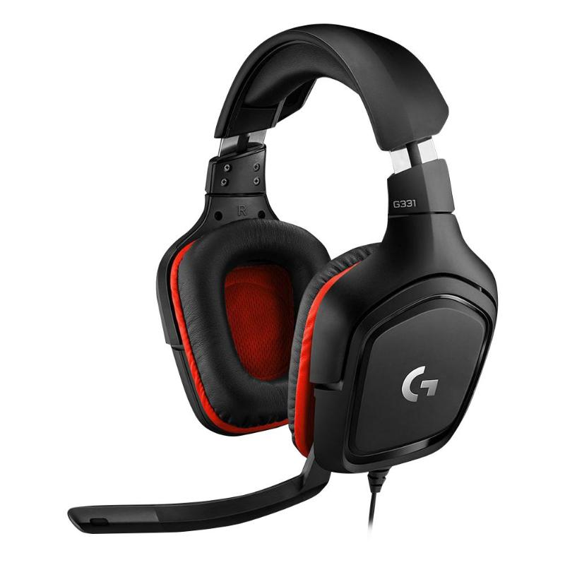 Logitech G331 Gaming Headset 3.5mm Wired with Mic Stereo Earphone Over-Ear Headphone for PC/PS 4 /Xbox One/ Nintend Switch/Phone