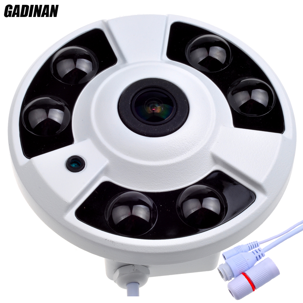GADINAN 1/3 OV4689 CCTV 5MP 1.7mm Fisheye 4MP 25FPS Caméra IP Extérieur Étanche IP66 4.0MP (2592*1520) 3MP (2048*1536) Panoramique