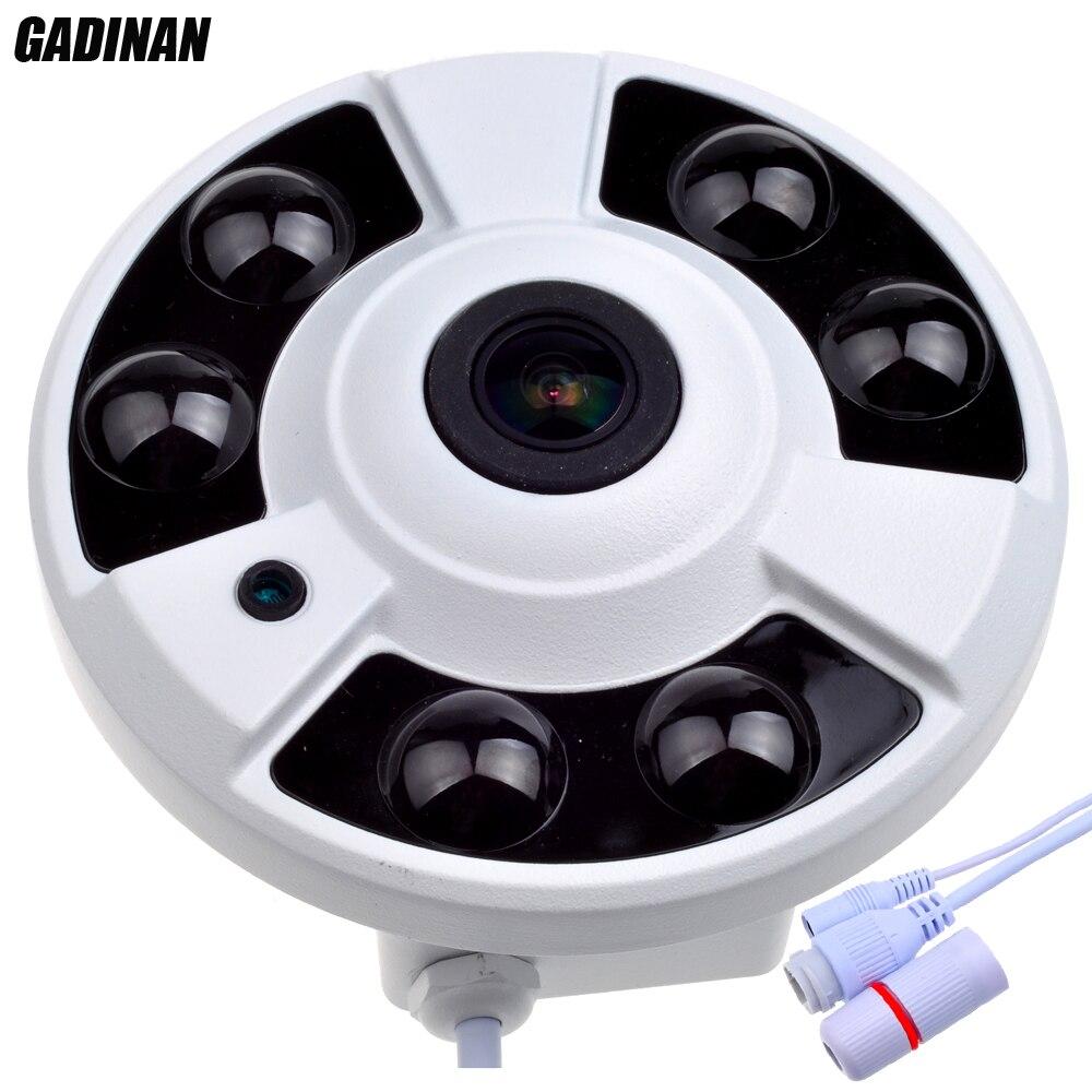 GADINAN 1/3 OV4689 CCTV 5MP 1.7mm Fisheye 4MP 25FPS IP Camera Outdoor Waterproof IP66 4.0MP(2592*1520) 3MP(2048*1536) Panoramic