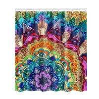 Picture Print Bathroom Set Fabric Shower Curtain 3D Decor Collection Nautical Colorful Seascape Curtain With Hooks