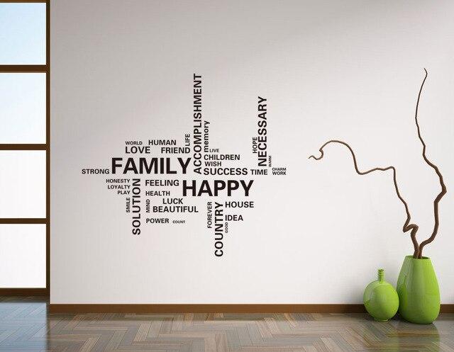 Quotes Voor Slaapkamer : Moderne gelukkig familie quotes vinyl muurstickers thuis decals