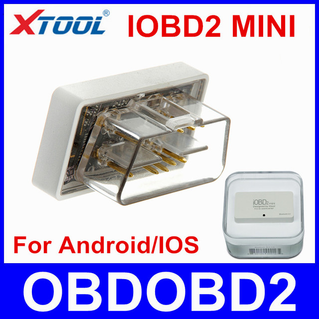 100% Original XTOOL IOBD2 Mini Work On Android IOS Mini IOBD2 Mesmo Como ELM327 Bluetooth OBD2 Ferramenta de Diagnóstico ELM 327 Navio Livre