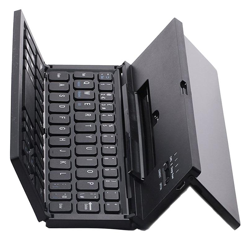 Universal Portable Pliable Sans Fil Bluetooth Clavier avec Béquille pour IOS Andriod Windows Smartphone Tablet Noir