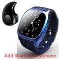 Lo nuevo de lujo bluetooth m26 4.0 smart watch barómetro reloj despertador musical interactivo podómetro para android ios teléfono smartwatch