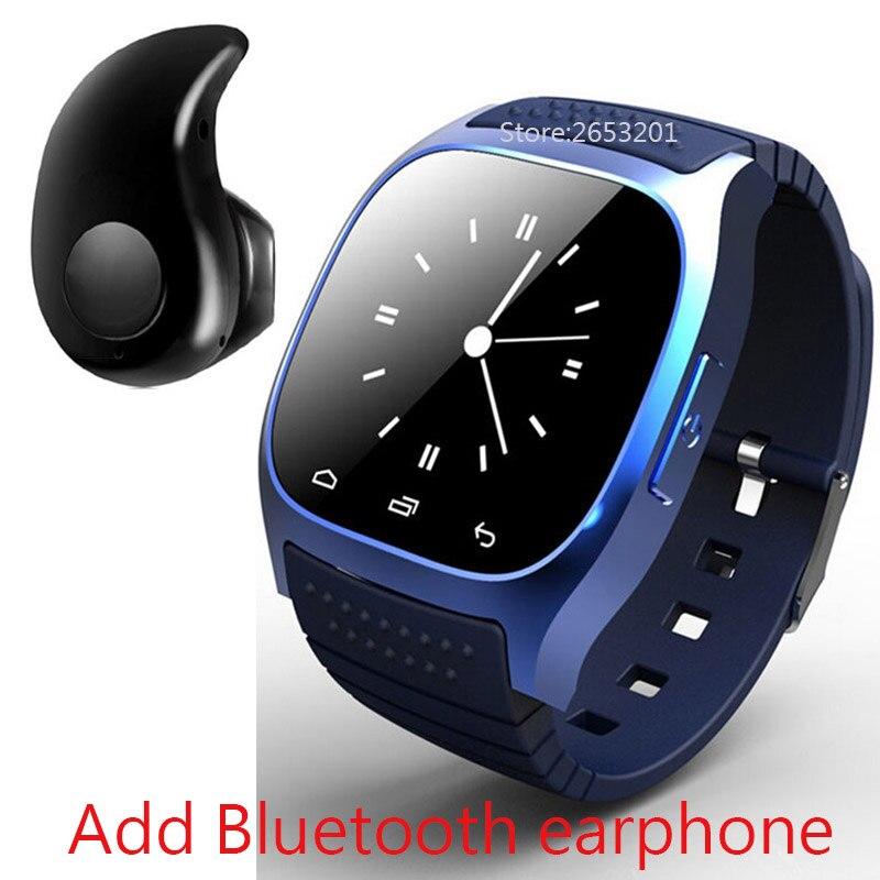 imágenes para Lo nuevo de lujo bluetooth m26 4.0 smart watch barómetro reloj despertador musical interactivo podómetro para android ios teléfono smartwatch