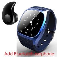 Lo nuevo M26 de Lujo Bluetooth 4.0 Inteligente Reloj Barómetro Reloj Despertador Musical Interactivo Podómetro para Android IOS Teléfono smartwatch