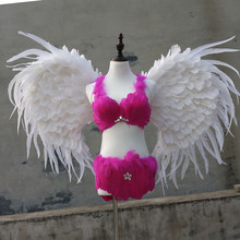 EMS free shipping beautiful birthday gifts white angel wings adults black fairy wings large size show
