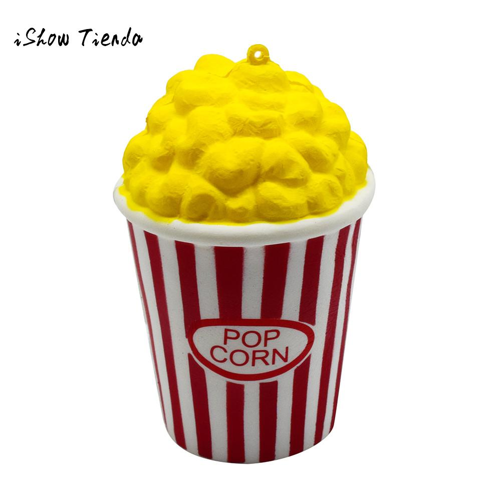 Popcorn Cup Squishy Slow Rising Antistress Fun Phone Charm Gift Strap Toy novelty baby toys Relieve Stress Gift squeeze