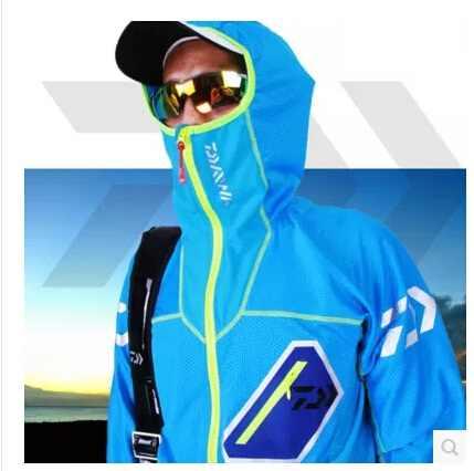 屋外釣り服抗uv釣り布すばやくドライジャケット男性スポーツジャケットフード付き釣りベストで発光3xl 4xl