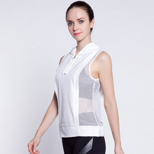 Fitness Sweater Women Trainning Sleeveless Sport Yoga Workout Hoodie Clothes Hollow Running Shirt Mesh Exercise Jacket Tracksuit