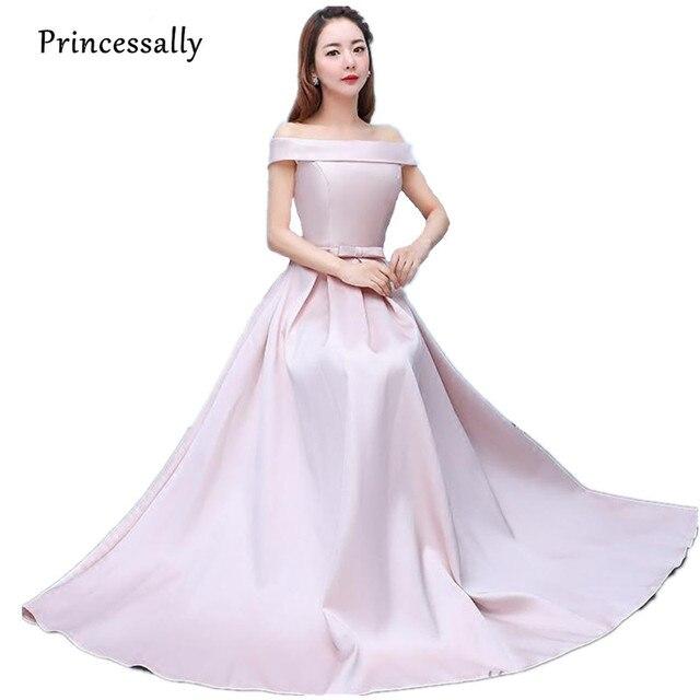Robe De Soriee New Blush Pink Bridesmaid Dresses Floor Length A line ...