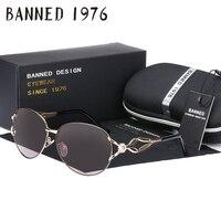PROHIBIDO HD polarizado gafas de Sol de moda de las mujeres venta caliente más nuevo de marca lente feminin diamante Gafas de sol de la vendimia con el regalo caja