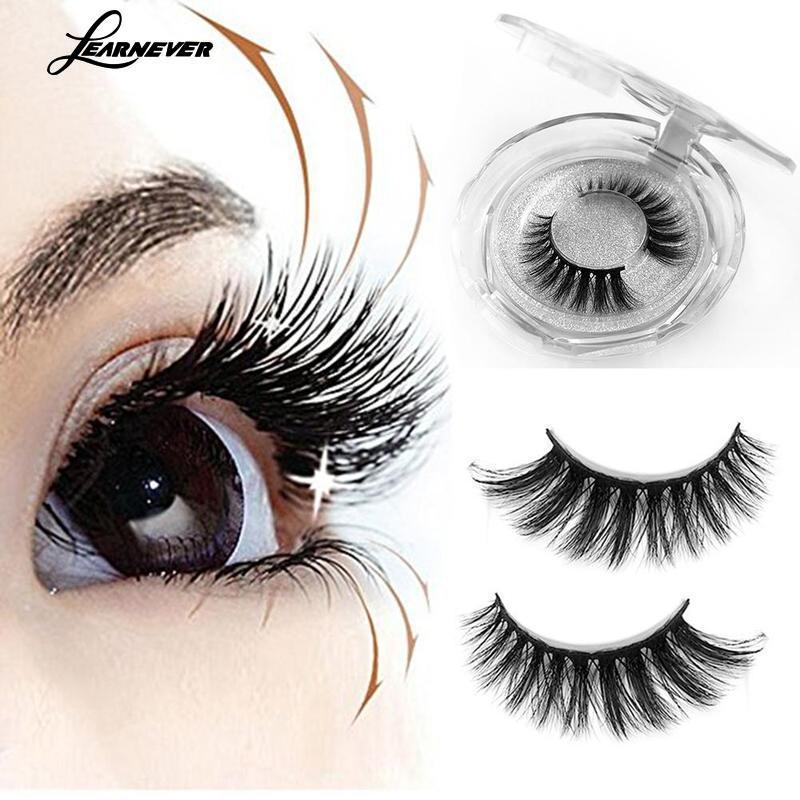 Natural Length False Eyelashes Synthetic Hair Mink Eyelashes Soft Cross Messy Makeup False Eyelashes