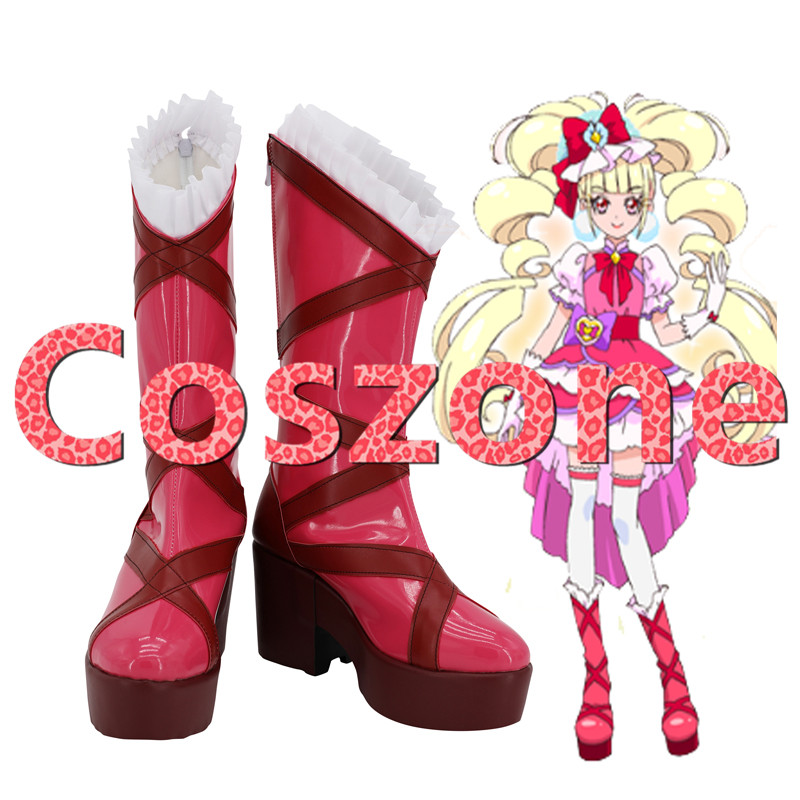 Hugtto! Pretty Cure Aisaki Emiru Cosplay Shoes Boots Cure Macherie Halloween Cosplay Costume Accessories