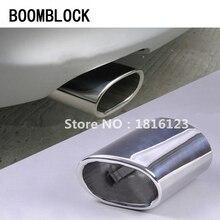 цены на BOOMBLOCK New 1pcs Car Exhaust Muffler Tip Pipes For BMW E90 E91 E92 E93 318i 318d High quality Stainless Steel Auto Accessories  в интернет-магазинах