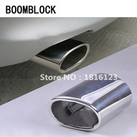 BOOMBLOCK New 1pcs Car Exhaust Muffler Tip Pipes For BMW E90 E91 E92 E93 318i 318d High quality Stainless Steel Auto Accessories