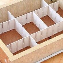 6Pcs DIY Grid Drawer Divider Haushalts Notwendigkeiten Lagerung Organizer Kunststoff Teiler Für Schreibtisch Schublade Schrank platzsparende Werkzeuge