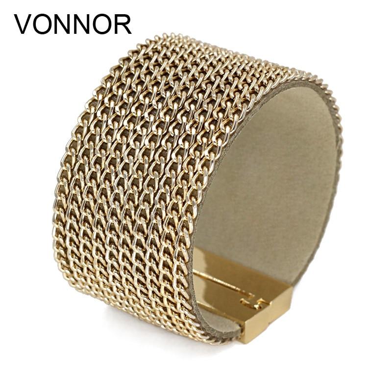 VONNOR اليد مجوهرات الأزياء سلسلة الإسورة أساور المشبك المغناطيسي أساور للنساء الرجال اكسسوارات دروبشيبينغ