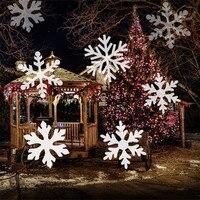 Thrisdar Christmas Laser Light Snowflakes Outdoor Led Spotlight Landscape Laser Projector Lamps Snow Falling Wedding Party Light