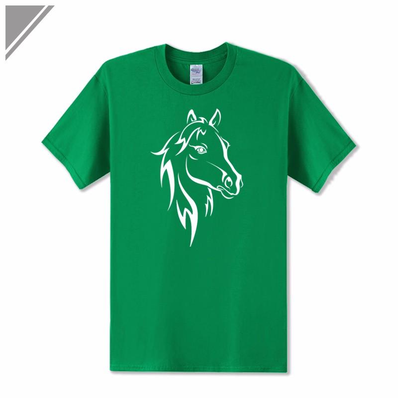 KOLVONANIG 2018 Fashion T Shirt Men Short Sleeve O-neck Cotton Hip Hop Mens Tee Shirts Animal Horse Printed T-Shirts Tshirts Top 9