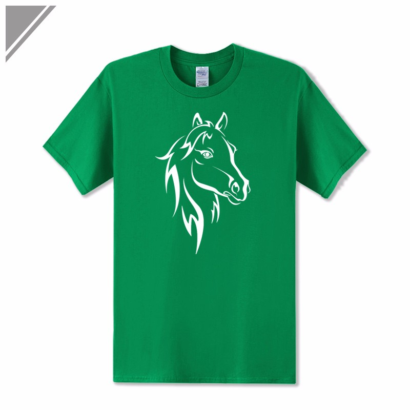 KOLVONANIG 2018 Fashion T Shirt Men Short Sleeve O-neck Cotton Hip Hop Mens Tee Shirts Animal Horse Printed T-Shirts Tshirts Top 9