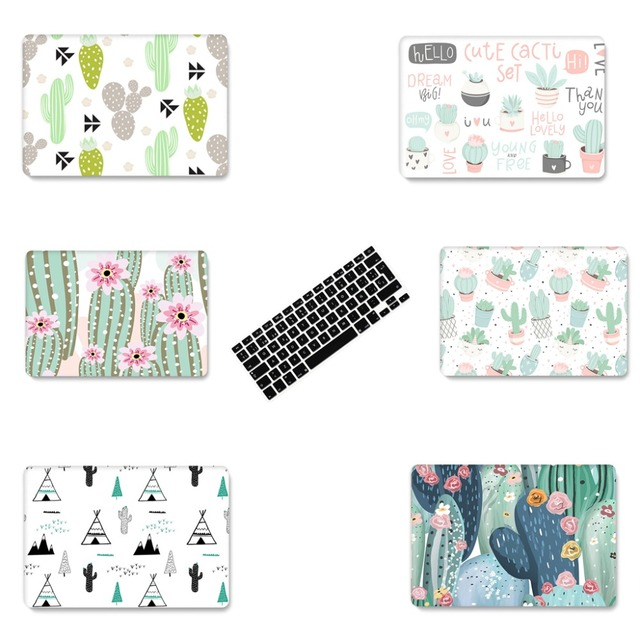 the best attitude 369ee b8f1d US $4.07 49% OFF|New Plant cactus Laptop Case For Apple MacBook Air Pro  Retina 11 12 13 15 for macbook New Pro 13 15 inch+ Keyboard Cover-in Laptop  ...