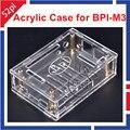BPI-M3 Caixa Transparente Caixa de Acrílico Transparente Exterior Gabinete Shell Capa para Banana PI BPI M3 M3