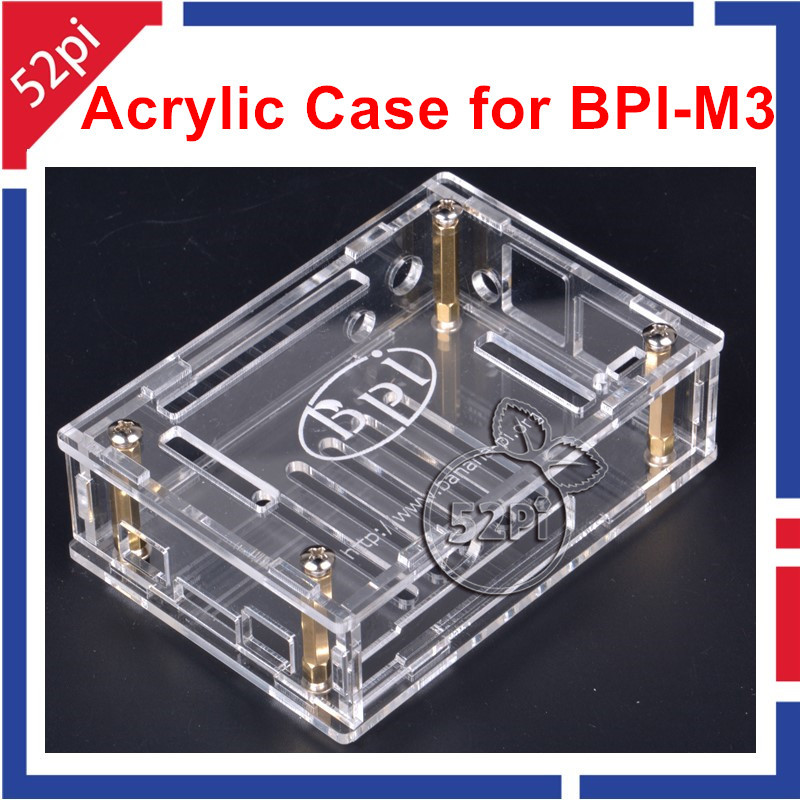Transparent Case Clear Acrylic Outer Box Enclosure Shell Cover For Banana PI M3 BPI-M3