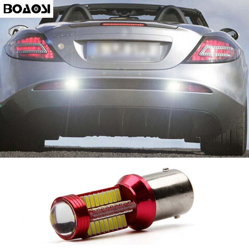 BOAOSI 1x 1156 BA15S LED 4014 Chip Auto Lamp Source Tail Rear Reversing Tail Light Bulb For Mercedes Benz w204 c class 2007-2014 auto fuel filter 163 477 0201 163 477 0701 for mercedes benz