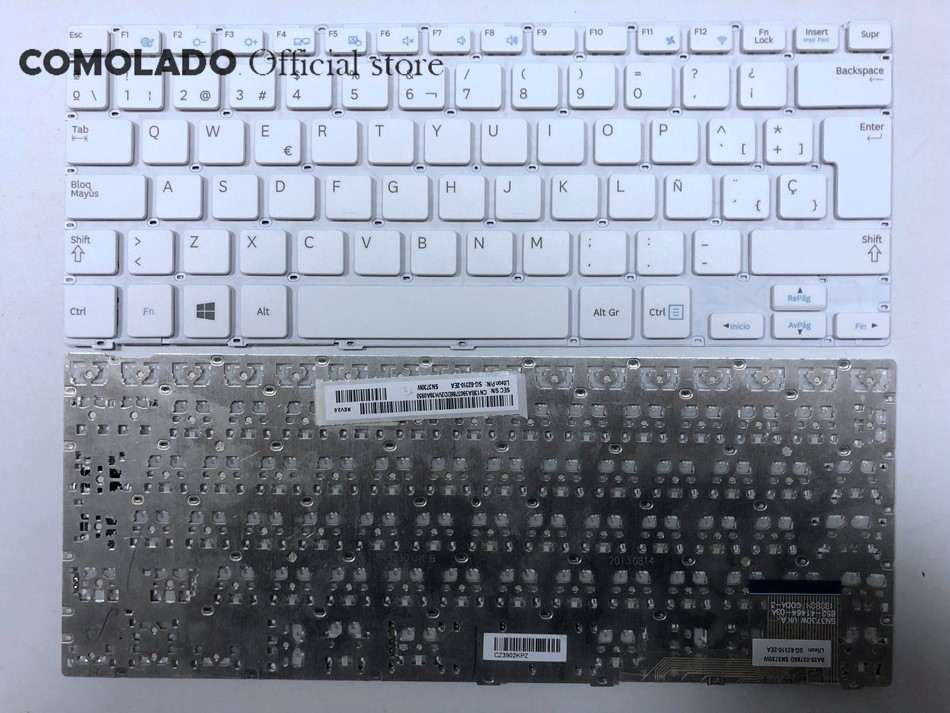 SP Spanish Keyboard For <font><b>SAMSUNG</b></font> <font><b>905S3G</b></font> 915S3G NP915S3G NP905S3G White Laptop Keyboard SP Layout image