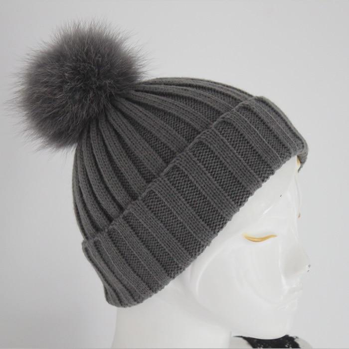 wholesale fashion wool beanie hats with big fur pom poms  b60255775b3