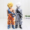 34 cm Dragon Ball Z Super Estrelas Mestre Pedaço O Son Goku Cinza Colorido ver. PVC Action Figure Collectible Modelo Toy