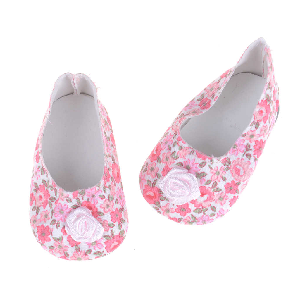"""1 Pair Unisex 18"""" United States 43cm Baby NewBorn Doll Accessories Fashion Flower Leather Casual Doll Shoes Many Colors"""