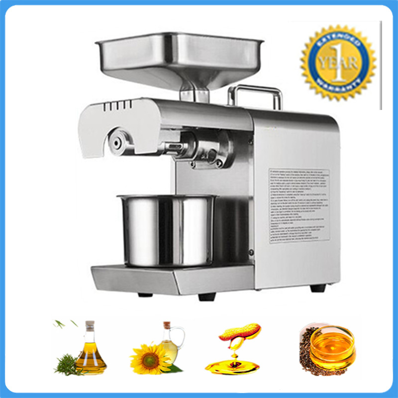 Automatic Camellia Flax Seed Cold Oil Press Machine Walnut Sunflower Eeeds Peanut Screw Oil Presser Expeller For Coconut Cocoa