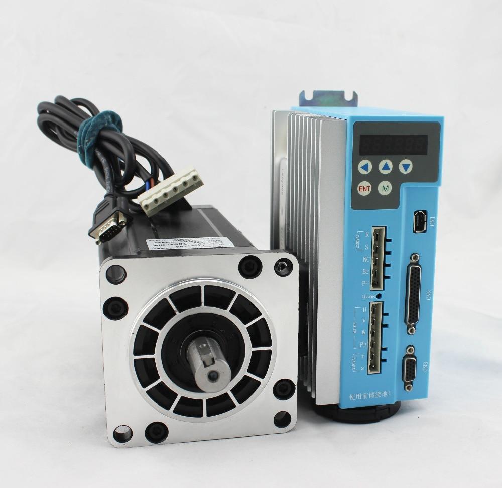 1SETLarge torque 16Nm 2266oz.in 110mm Nema42 digital closed-loop driver LCDA2260H easy servo motor kit for cnc milling engraving jx pdi 5521mg 20kg high torque metal gear digital servo for rc model