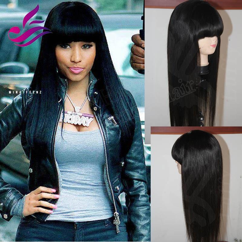 Thick Chinese Bangs Brazilian Silky Straight Virgin Hair