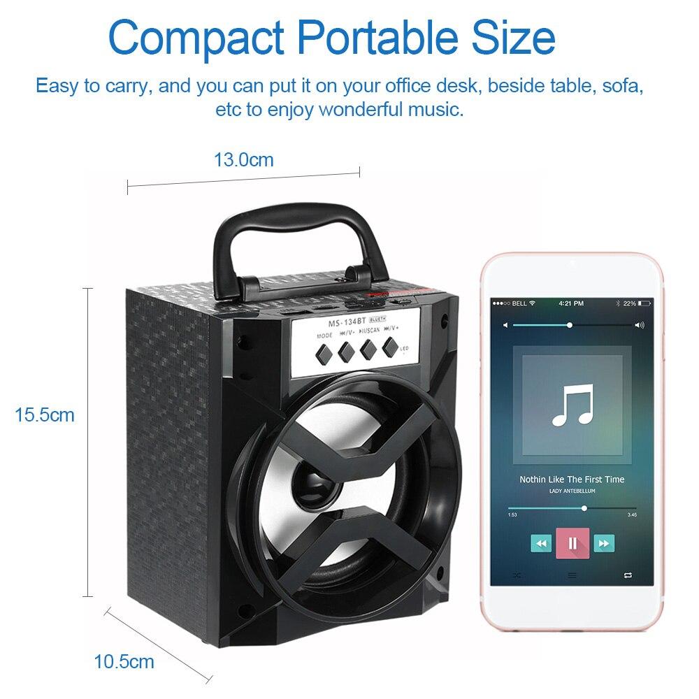 MS-134BT Bluetooth Speaker Portable Indoor Outdoor Wireless Speaker with USB//TF
