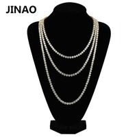 JINAO 1 Row Gold Silver Bracelet AAA Cubic Zirconia Micro Paved All Iced Out Tennis Bling