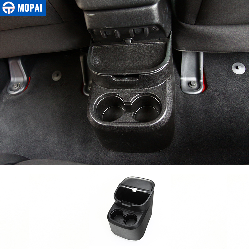 MOPAI Car Drinks Holders for Jeep Wrangler JK 2011-2017 Rear Storage Box Water Cup Holder for Jeep Wrangler Accessories siku внедорожник jeep wrangler с прицепом для перевозки лошадей