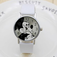 Cartoon Quartz Wristwatch Children Hot Sale Leather Watch Mickey  fashion casual watches kid boy women girls cute relojes