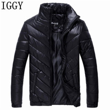 IGGY 2017 Men Winter Jacket Warm Male Coats Fashion Thick Thermal Men Parkas Casual Men Branded Clothing Plus Size 5XL(China)
