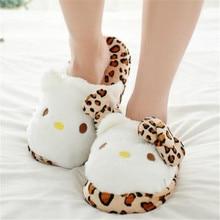 2016 Women Winter indoor cute cat  warm flock slippers women slipper home kawaii shoes pantufas de pelucia adulto animais 45