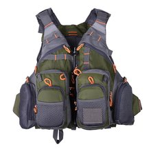 Comfortable Multifunctional Outdoor Fishing Quick Drying Mesh Fishing Vest Mutil-Pockets Removable Fishing Vest Jacket