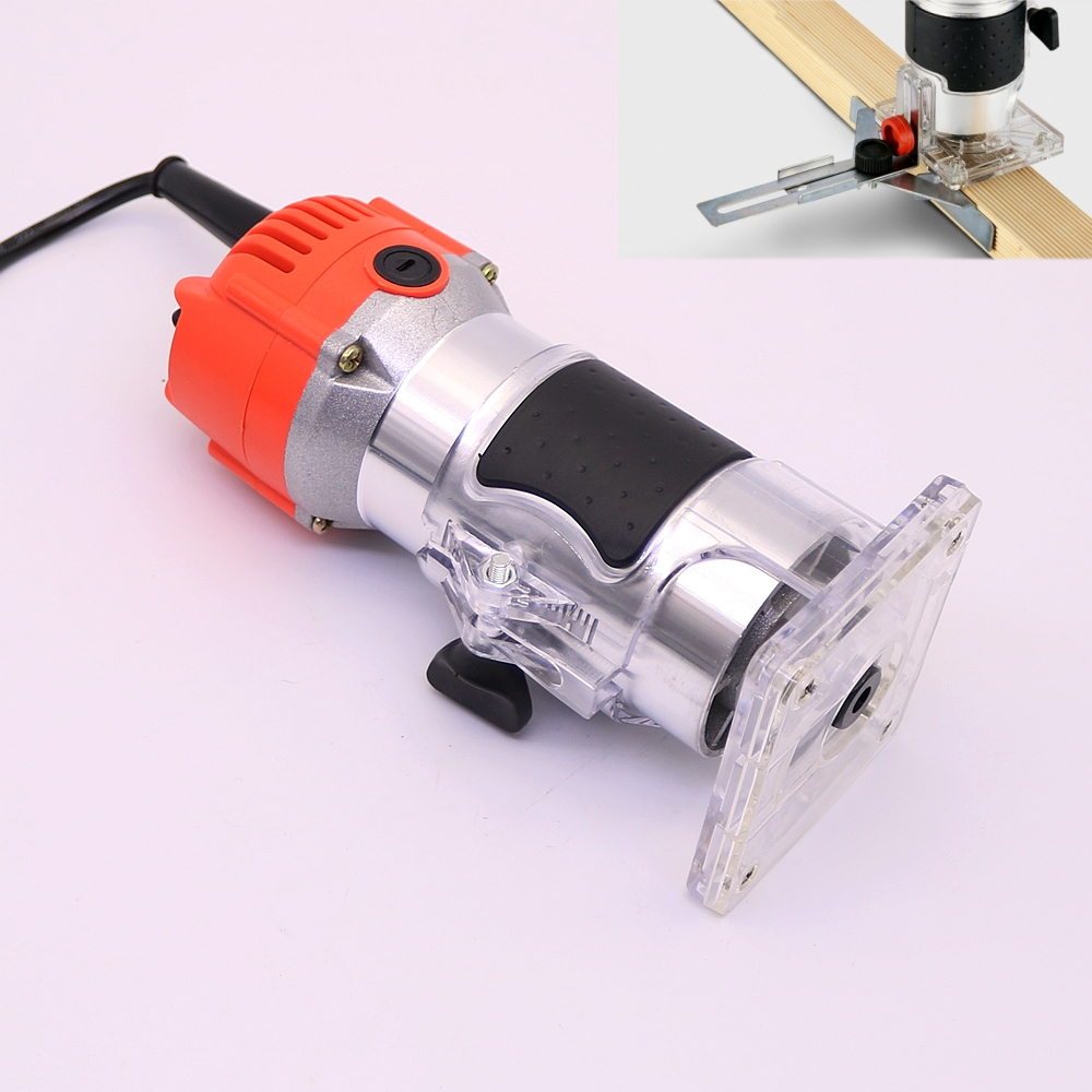 220V Wood Trim Router 635mm Collect Diameter Electric Hand Trimmer Woodworking Laminate Palm Router Joiner Tool